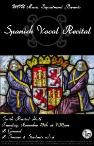 Spanish Vocal Recital Poster