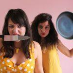 Left: Megan Falley, Right: Olivia Gatwood. Speak Like A Girl Slam Poetry feminist duo