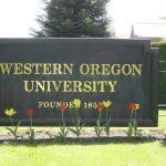 Western Oregon University's Sign