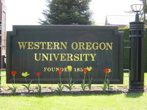 Western Oregon University's Sign