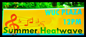 The top of the Summer Heatwave advertisement specifying the name, location, and time.