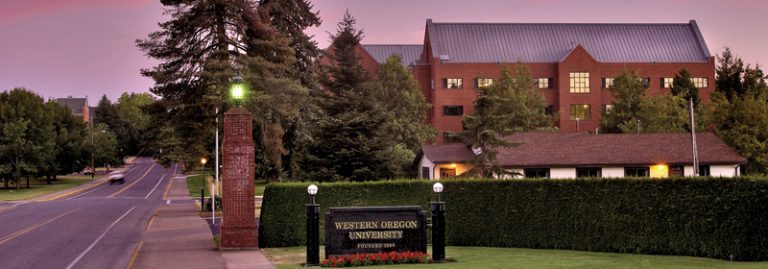Western Oregon University sunset
