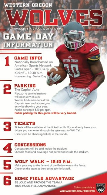 Homecoming football game info