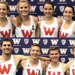 Faces of the men and woman's track team