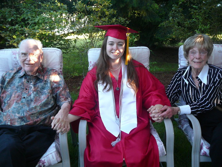 Laura Gage and her grandparents