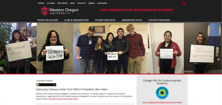 Alma's Project website screenshot