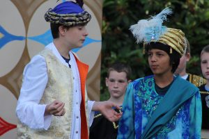 Josh Shinkle and Abel Carabajal play Al-a-din and the Sultan in Arabian Nights