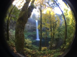 Silver Falls fish-eye photo