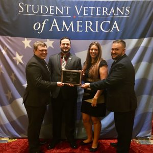 WOU student veterans of america accepting national chapter of the year award