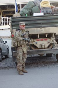 Student Eric Frey serves in Kabul