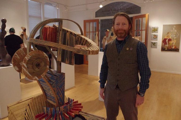 Eric Frey at his art show