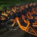 Spin orange bikes