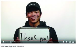 WOU's Giving Day Video for March 6, 2018