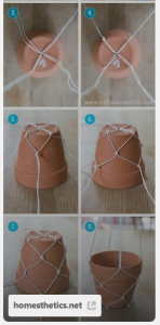 flower pot decor for decorating your dorm