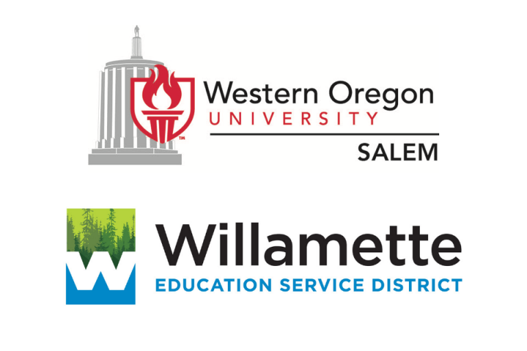 WOU in Salem logo and Willamette Education Service District logo