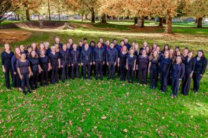 Western Oregon's Concert Choir gathers for a photo.