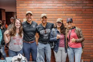 A group of students smiling.