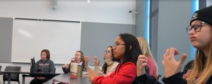 Group of students in an American Sign Language class