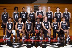 Western Oregon's men's basketball team.