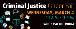 Poster of Criminal Justice Fair at WOU