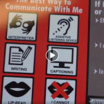 Part of a visor card for people who are deaf and hard of hearing to use if pulled over by police.