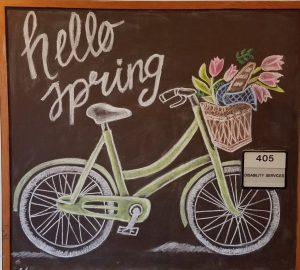 Hello Spring with a bicycle