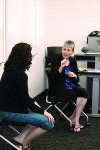 Woman using American Sign Language