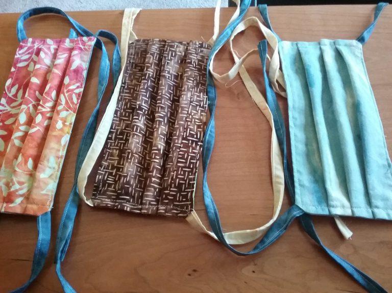 Three cloth masks