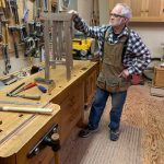 Man in a woodworking shop