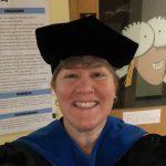 Professor dressed for graduation
