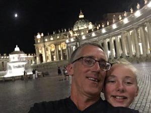 Man and daughter in Vatican City