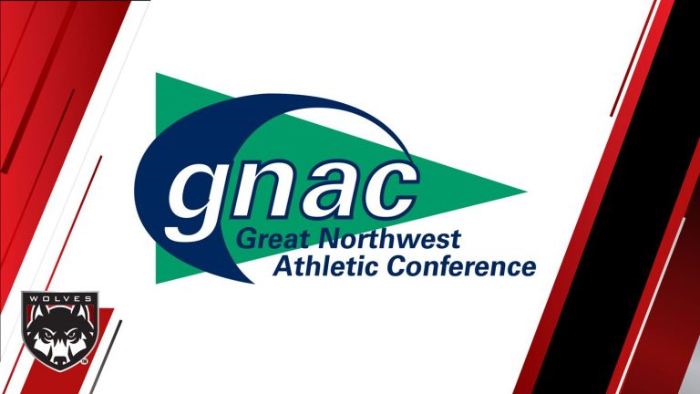 Graphic with Great Northwest Athletic Conference logo