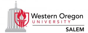 WOU Salem logo with image of state capital building in background